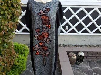 着物リメイク ハンドメイド 素敵な柄 絞りの羽織 リメイク ワンピース の画像
