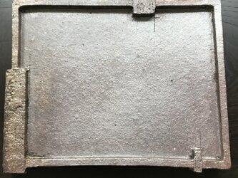 焼締三つ足長角皿の画像