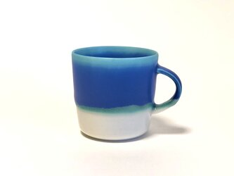 Mug cup M / Blue×transparentの画像