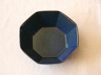 瑠璃釉 八角鉢の画像