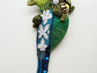 IRODORI AZ brooch(オナガヒロハシ)の画像