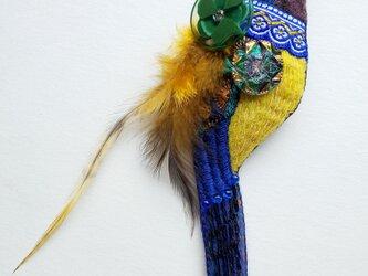 IRODORI AZ brooch(キンムネオナガムクドリ)の画像