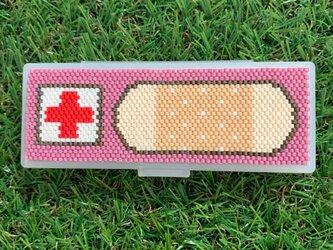救急絆&綿棒ケース15赤紫の画像