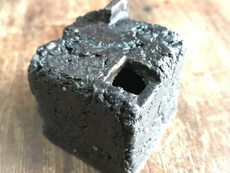 黒釉花器「cube 」-3 (旧作sale価格)の画像