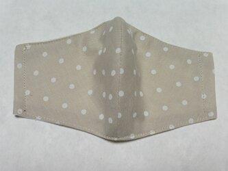 綿100% 水玉 ドット ハンドメイド 立体マスク ★1枚の画像