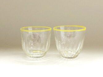 クリアなモールガラスの冷茶グラスの画像
