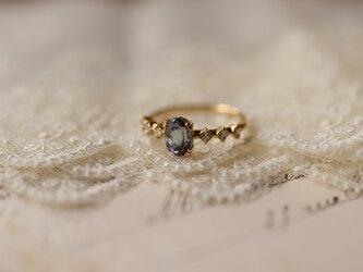 雨雫 タンザナイトとダイヤモンドのリングの画像