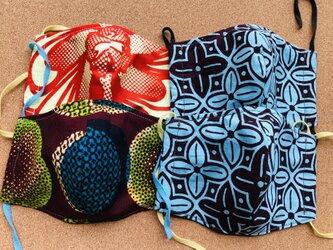 オーダー品 アフリカ布マスク4枚組の画像