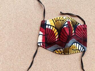 e105-アフリカ布マスクの画像