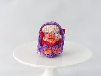 アマビエの指人形(パープル)の画像