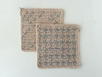 リネンのコースター2枚セットの画像