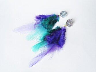 フェザーピアス 2ウェイ vintage btn earrings 2way <PE3-0420>の画像