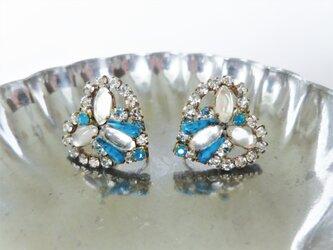ヴィンテージビジューイヤリング ハート vintage earrings bijou <ER5-0420>の画像