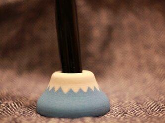 富士山 ペン立て 石膏製 鉛筆から万年筆まで立てられますの画像