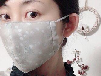 立体マスク ミモザ  シックなオトナミモザ 柄 キッズ オトナの画像