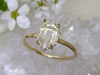 NY州産ハーキマー*アンティーク調14kgf ringの画像