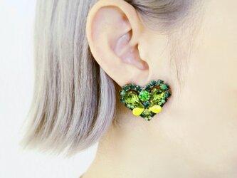 ヴィンテージビジューイヤリング ハート vintage earrings bijou <ER2-0420>の画像
