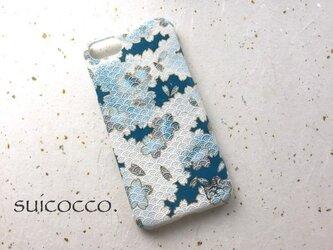 《K様オーダー品》友禅和紙iPhone6sカバー[海波桜]の画像