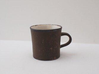 黒釉マグカップ・縦長の画像