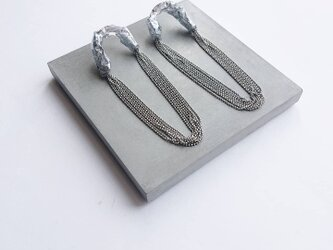 plus=minus/pole chain piece/silverの画像