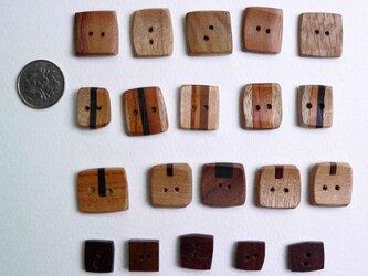 木のボタン 20個①の画像