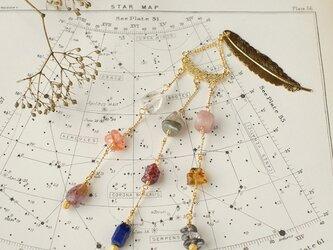 星降る天然石の帯飾り/A【送料無料】の画像