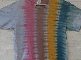 タイダイ染め 不思議なカラフル模様Tシャツの画像