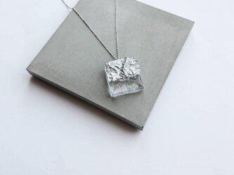 plus=minus/square  necklace /silver925の画像