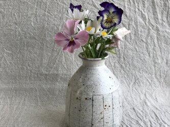 花器(青と茶色ライン柄)の画像