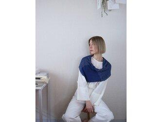 ◆即納◆Almak[アルマク] 部分ラメ・スヌードケープ3 /ナイト・ブルーの画像