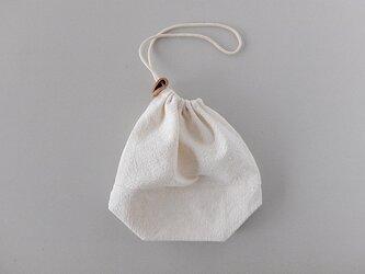 【再入荷】備後節織の巾着袋 風合生成(厚地) 切替えありの画像