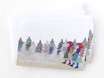 メッセージカードセット(少女たち・5組+1枚)送料無料の画像