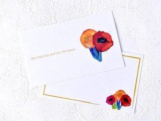 メッセージカードセット(FlowerB・5組+1枚)送料無料の画像