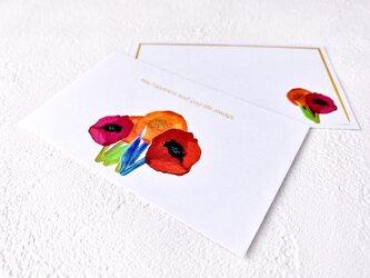 メッセージカードセット(FlowerA・5組+1枚)送料無料の画像