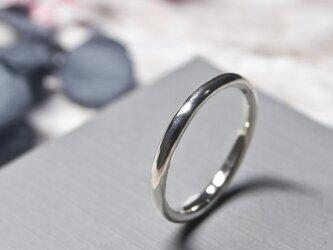鏡面 シルバープレーンリング 2.0mm幅 ミラー シルバー950 SILVER RING 指輪 シンプル アクセサリー 239の画像
