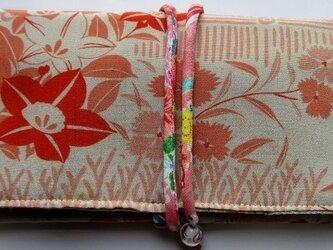 4830 花柄の長襦袢で作った和風財布・ポーチ #送料無料の画像