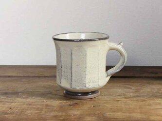 白い面取りマグカップ(透明)/オーダーメイド受付可の画像
