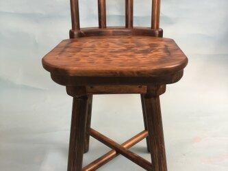 回転椅子 小さな回る椅子 デスク用 椅子の画像