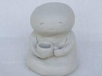 ようこちゃん人形 お茶タイム 白 マット釉薬の画像