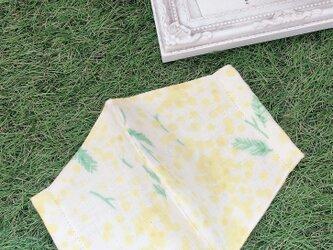 立体マスク ミモザ 花柄 イエロー キッズ オトナの画像