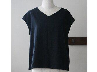 Tシャツ感覚で着られるプルオーバー ブラック(M)の画像