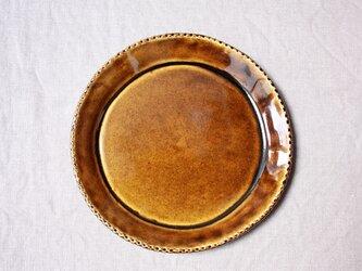 gizagizaリム皿(中/茶)の画像