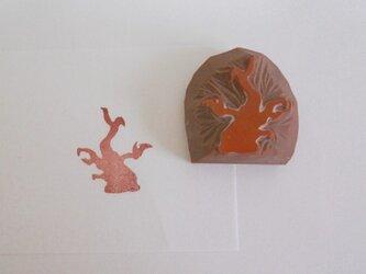 消しゴムはんこ 木の画像