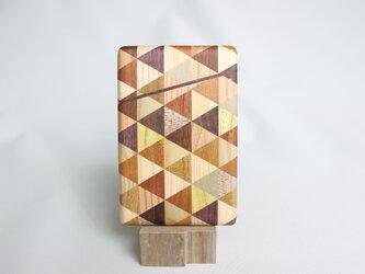 【新作】寄木の名刺入れ・三角チェックの画像