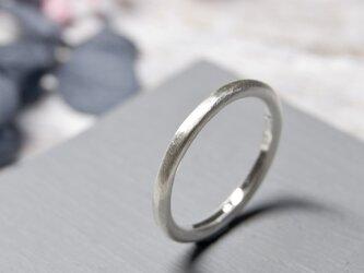 つや消し シルバープレーンリング 2.0mm幅 マット シルバー950 SILVER RING 指輪 シンプル 240の画像
