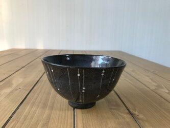 NO.6飯碗(しずく柄)黒の画像