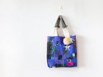 ちくちく2‐faced bag「P&B」2の画像