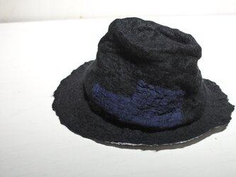 wool と cottonでつくられた春夏のハット ⒈の画像