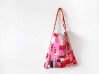K様専用 ワンハンドルバッグ ピンク&ステッチの画像