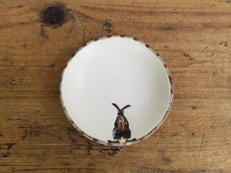 小皿no.58 丸い顔のウサギ(サスペンダー)の画像